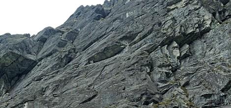 Górna część ściany czołowej Kopy Spadowej.