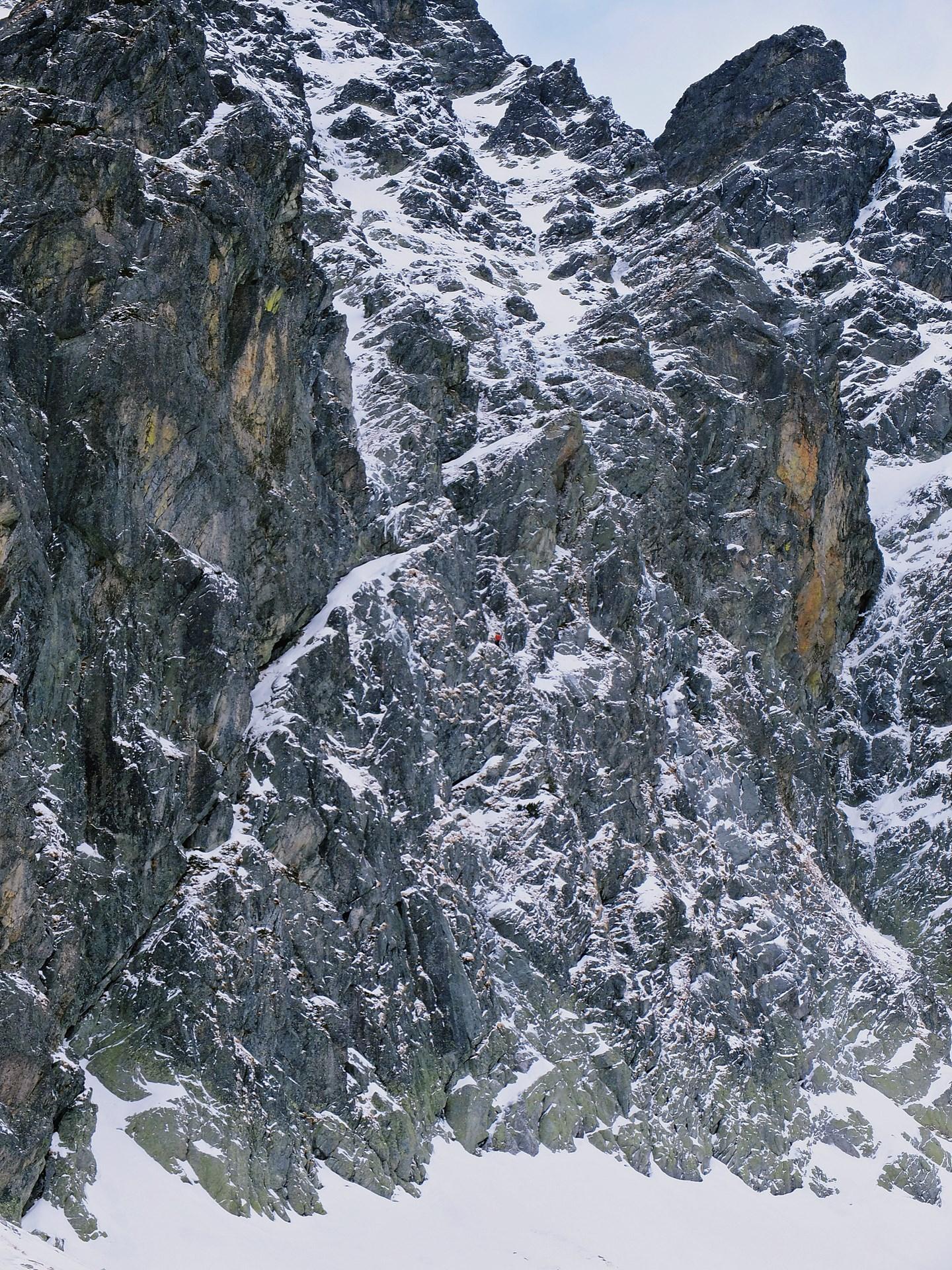 Środkowa część wschodniej ściany Buczynowej Strażnicy.