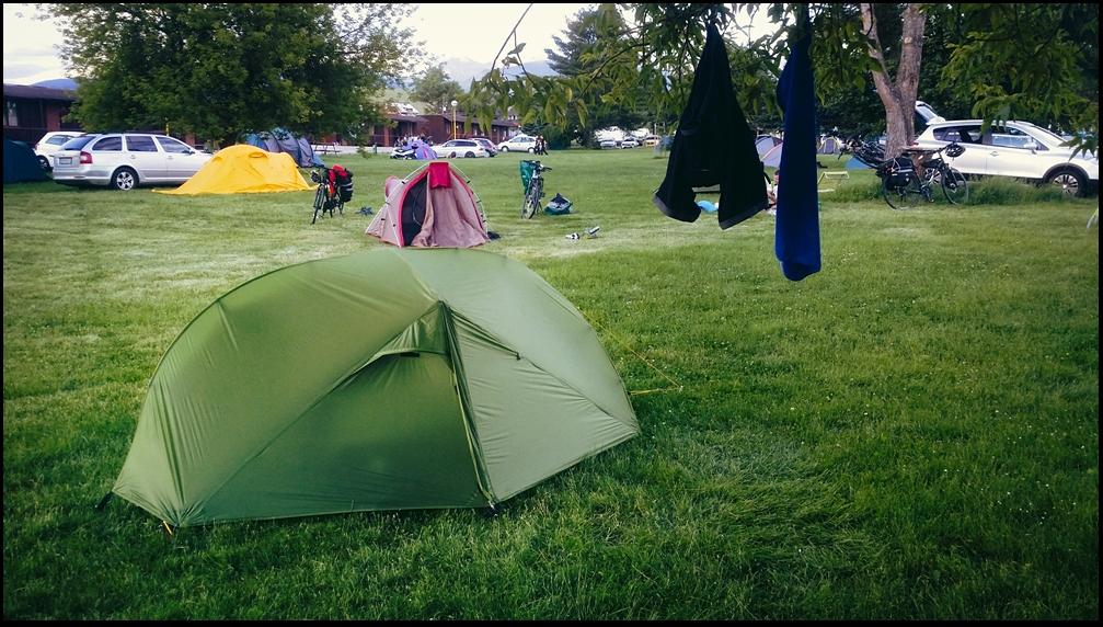 Na campingu.